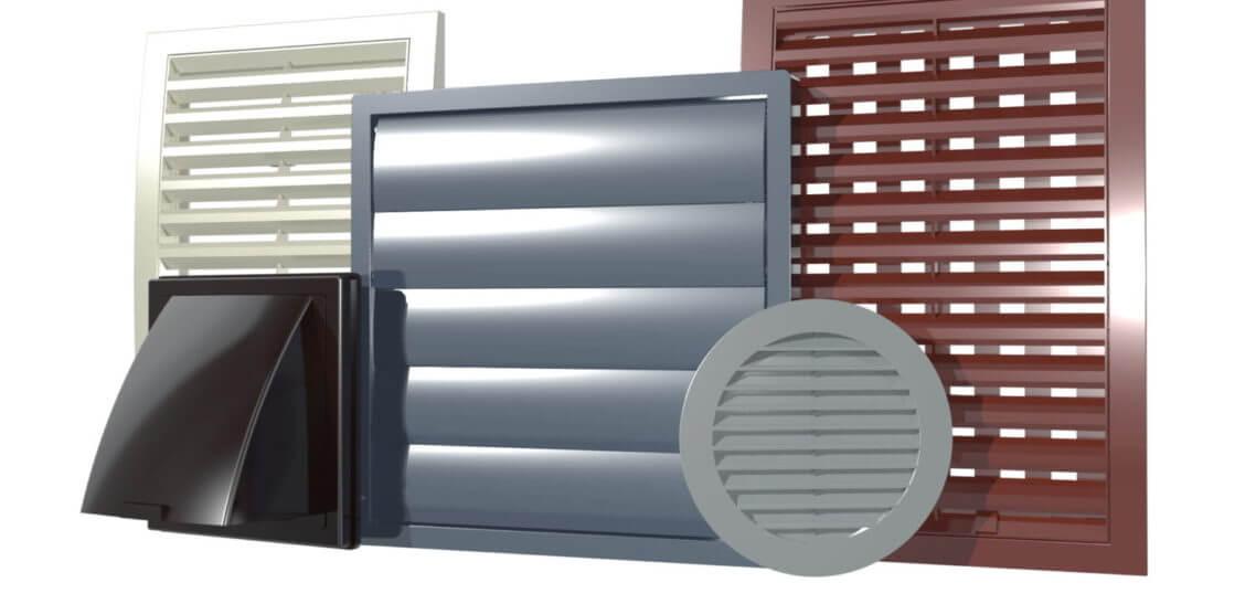 Tipuri de Grile de ventilatie pentru case.